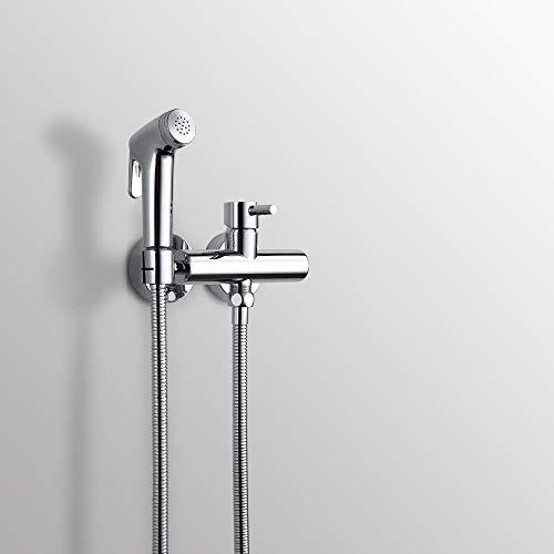 TIN-YAEN Bide Taps, Alle Kupfer Lanze Toilette Bidet Mixer Genannten Duschkopf Bündig Montiert Aufladedruck (Size : SET A)