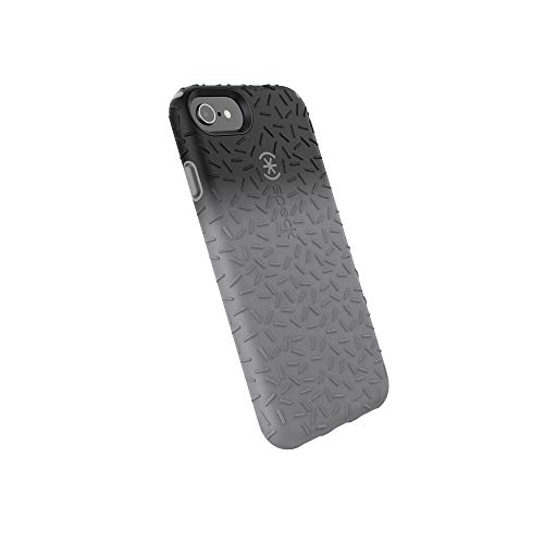 Speck Products CandyShell Fit Cell Phone Case for iPhone 8 - Black Ombre Gunmetal/Gunmetal Grey
