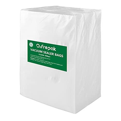 O2frepak 200 Buste 15x25cm Buste Sottovuoto Alimenti,Sacchetti Sottovuoto per Alimenti,Sacchi Sottovuoto Alimenti senza BPA
