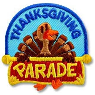 Cub Girl Boy THANKSGIVING PARADE Embroidered Iron-On Fun Patch Crests Badge Scout Guides