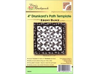 "Elisa's Backporch 4"" Drunkards Path Template"
