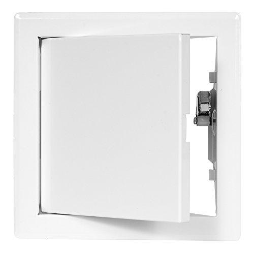 Revitür 150 x 150mm Schnappverschluss Revisionstüre Wartungsklappe Revisionsklappen Stahl Drucktüröffner Wartungstüre weiß