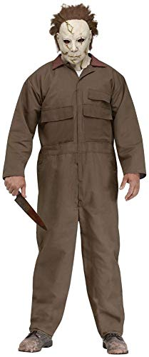 Men's, Michael Myers costume with mask, serial killer from horror movie, Halloween costume
