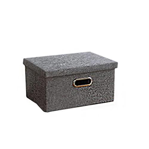 Onlyup Stoff Aufbewahrungskörbe Wäschekorb Geflochten Aufbewahrung Korb Mit Henkel Für Haus Schrank Schlafzimmer Schublade Aufbewahrungsbox Faltbar,18x25,5x34,5cm(Grau A)