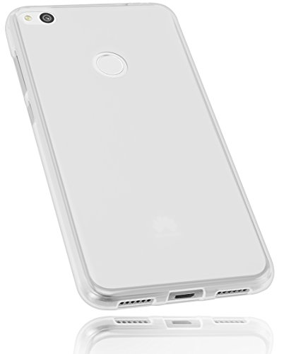 mumbi Funda Compatible con Huawei P8 Lite (2017) Caja del teléfono móvil, Blanco Transparente