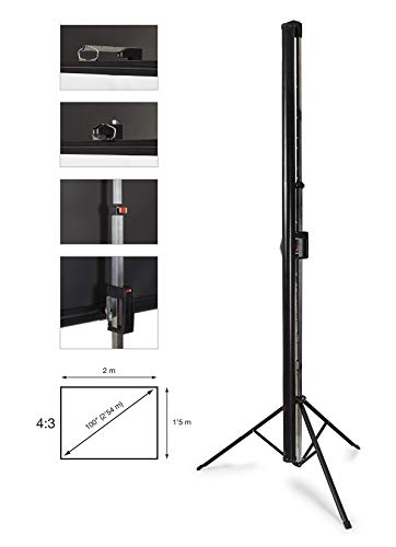 PANTALLA PROYECTOR CON TRIPODE FONESTAR PPTR-100 2x1,15m 4:3 ...