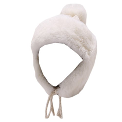 6070V cuffia bimba REGINA GOLD BY ANGELA MAFFEI cashmere fur wool white hat girl [II/50 CM]