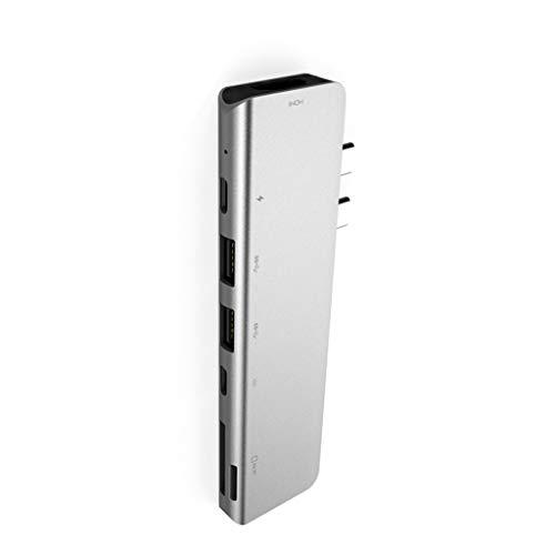 Adaptador USB 3.0 a 4 K HDMI USB 3.0 SD TF Card Reader 7 en 1 para PC, para Windows 10.8.7, Vista, XP, Mac 10.4.6
