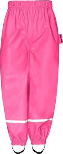Playshoes Baby-Unisex Fleece-Halbhose Regenhose, Rosa (Pink 18), 128