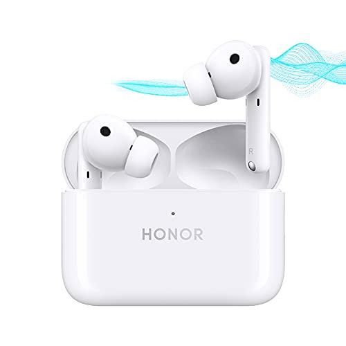 HONOR Earbuds 2 Lite - Bluetooth 5.2 Kabellose Kopfhörer mit Aktiver Geräuschunterdrückung 4 Mikrofon Anti-Wind Ohrhörer zum iOS Android, 32 Std Wiedergabe, USB-C Schnellem Aufladen(Weiß)