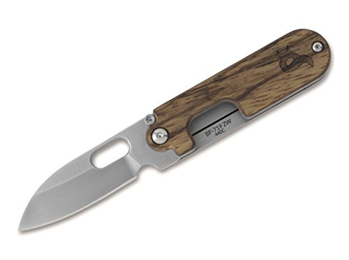 BlackFox Unisex– Erwachsene Bean Gen 2 Satin Wood Taschenmesser, braun, 13,0 cm