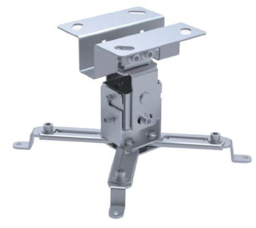 Videoprojektor Beamer Deckenhalterung Halterung Silber von HALTERUNGSPROFI
