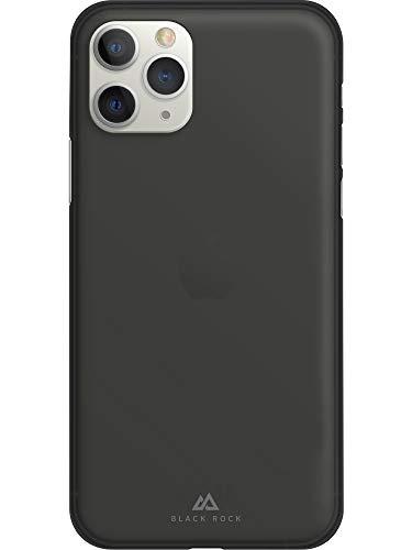 Black Rock - Ultra Thin Iced Hülle Hülle für Apple iPhone 11 Pro | halb-transparent, dünn, schlank, PU Cover, kabelloses Laden (Schwarz)