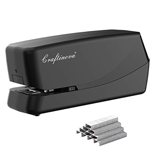 Craftinova Electric Stapler,Including 2000 Staples,Can Store 210 Staples,25 Sheet Capacity, Perfect for Home Office, Home School, and...