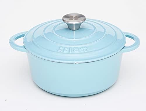 Lätt Home Cocotte Hierro Fundido (Azul Cielo, 22 cm)