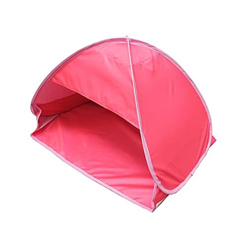 Tienda de campaña para el sol de playa, portátil, mini sombra, refugio para la cara, protección solar personal, color rosa