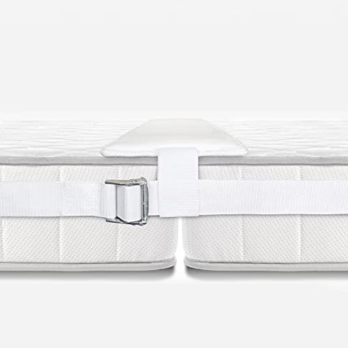Liviza Liebesbrücke für Matratzen - bequem und stabil durch extra breite Auflage - Matratzenverbinder mit extra festem Halt dank Gurtsystem