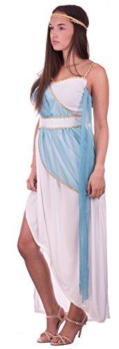 Brandsseller Damen Kostüm - Cleopatra - Kleid mit Stirnband - Fasching Karneval Verkleidung - Größe: L/XL