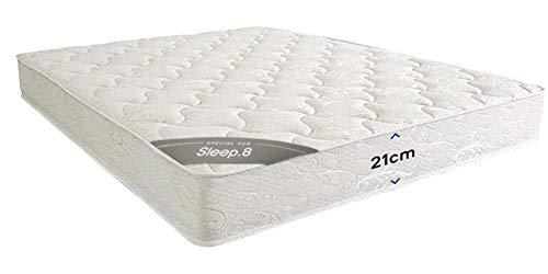 Sleep8 Colchón Spring Mattress 190X135 CM. Colchón con núcleo de muelles y una Comodidad de Lujo