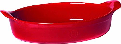 Emile Henry Eh349042 Plat à Four Ovale Céramique Rouge Grand Cru 34,5 X 23,5 cm