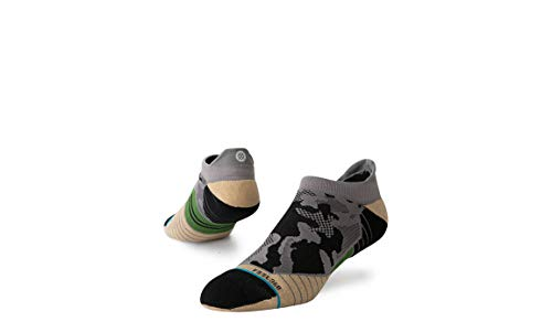 Stance Men's Smoked Camo Tab Socks, Grey - M