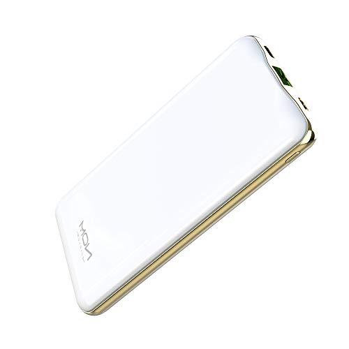 MOXNICE Power Bank 10000mAh Powerbank QC 3.0, PD 22.5 W USB C Batteria Esterna Caricabatterie Portatile per Smartphone e Tablet, Regalo per Uomini Donne (Bianco)