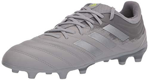 adidas Men's COPA 20.3 FG Football Shoe, Grey two/silver Met./ Solar Yellow, 10 Standard US Width US