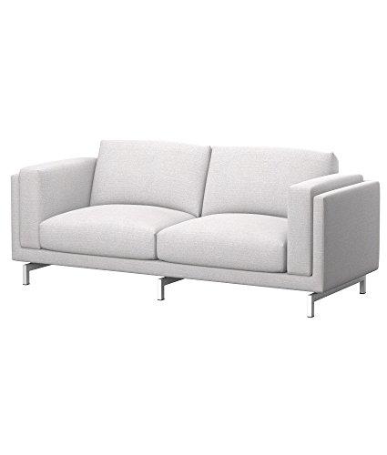 Soferia Funda de Repuesto para IKEA NOCKEBY sofá de 2 plazas, Tela Naturel Off White, Off-White
