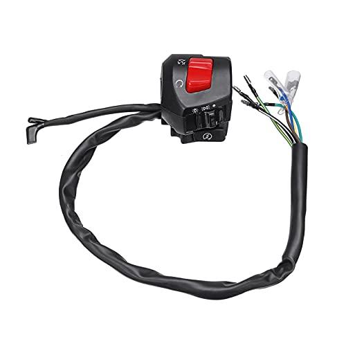 YYOMXXOM Interruptor de Arranque eléctrico 12V Doble Acelerador Universal 7/8'Motorilla de Control de Control de Motor Interruptores de la señal de la señal de Giro de la bocina
