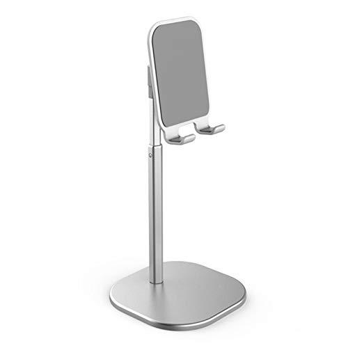IQQI Universial Flexible Moile Holder Soporte de Escritorio para el teléfono Inteligente Soporte Escritorio del Metal de la aleación de Alumium,Plata
