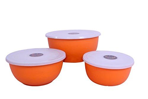 Parag- Euro Microwave Safe Bowl Set with Gift Box (Set of 3) Orange