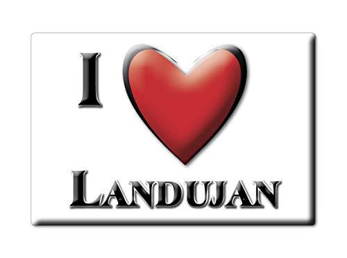 Enjoymagnets LANDUJAN (35) Souvenir IMANES DE Nevera Francia Pays DE LA Loire IMAN Fridge Magnet Corazon I Love