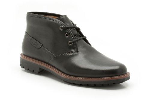 Clarks Clarks Herren Montacute Duke Kurzschaft Stiefel, Schwarz (Black Leather), 44.5 EU