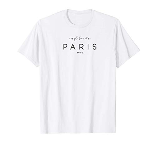 C'est la vie 1990 Paris T-shirt Maglietta
