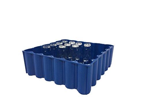 bevando Transport - und Lagerkiste blau für Trinkgläser 0,2l - 36 Gläser je Box
