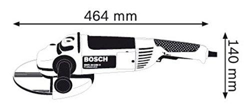 Bosch Professional GWS 24-230 JH – Amoladora angular (2500 W, 6500 rpm, Ø disco 230 mm, en caja)