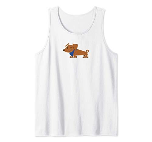 Winston el Perro Lindo Cachorro Dachshund Camiseta sin Mangas