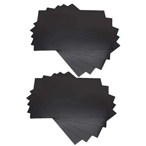 VICASKY 10 Piezas de Hojas Magnéticas de Respaldo Adhesivo Flexible de Papel Magnético Adhesivo de Goma para Pelar Y Pegar Adhesivos de Coche DIY Materiales para Imanes de Fotos Y Fotos
