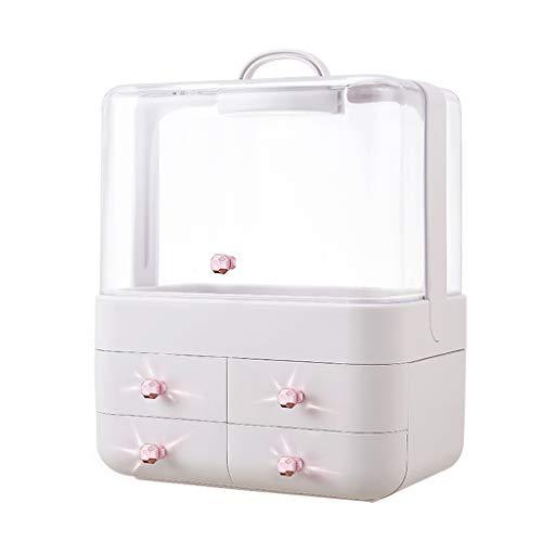 KKY-ENTER En plastique simplicité simplicité boîte de rangement bureau rouge à lèvres bijoux produits de soins de la peau boîte de stockage transparent affichage 30 * 22.5 * 40 (Couleur : C)