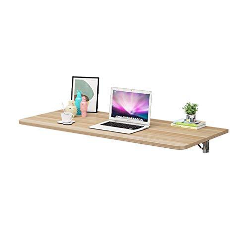An der Wand montierter Schreibtisch, schwimmende Hochleistungs-Computer-Werkbank Platzsparender holzfarbener, zusammenklappbarer Esstisch für Balkon, Arbeitszimmer, Restaurant, Wäscherei, Ga