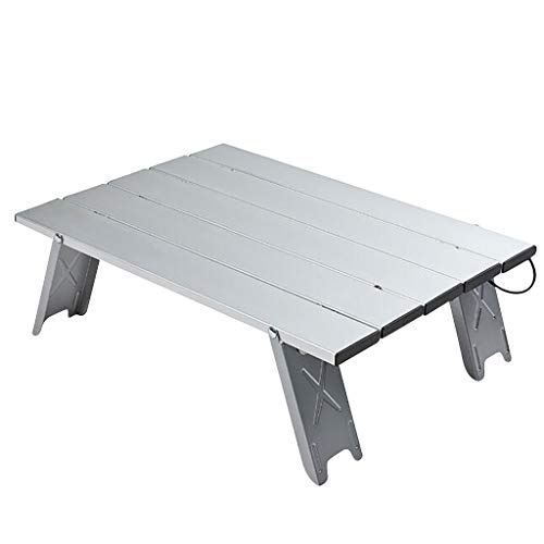 IILOOK Portable Aluminum Outdoor Dining Table Aluminum Lightweight Folding Camping Table, Portable Outdoor Picnic Table Camping, Beach, Backyard, Barbecue, Party And Picnic (Silver)