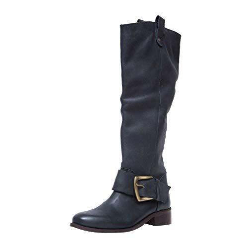 Stivali Alti Pelle Stivaletti Invernali Stivali da Neve Stivali Donna Moda Stivali al Ginocchio Stivali...