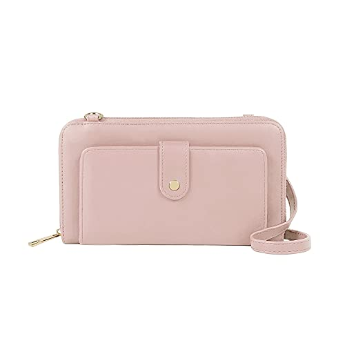EMPERIA Miley Small Faux Leather Shoulder Handbags Crossbody Cellphone Purse Wallet for Women pink Size: One Size