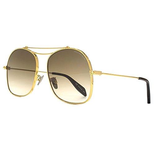 Alexander McQueen - Gafas de sol - para mujer Brown Gradient Gold