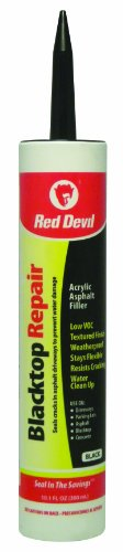 Red Devil 0637 Acrylic Asphalt Crack Filler Sealant, 10.1 fl. oz. , Black, 1 Pack