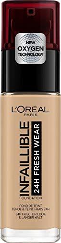 L'Oréal Paris Infaillible 24H Fresh Wear Make-up 140 Golden Beige, hohe Deckkraft, langanhaltend, wasserfest, atmungsaktiv, 30ml