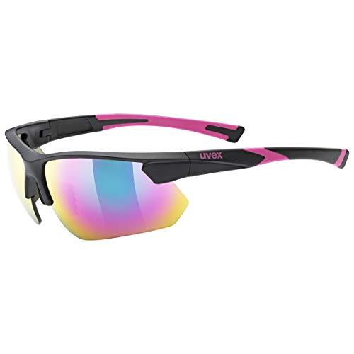 uvex Unisex– Erwachsene, sportstyle 221 Sportbrille, black pink, one size