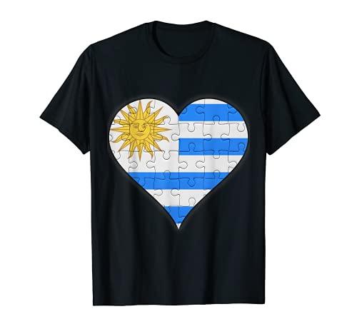 Corazón de la bandera uruguaya Camiseta