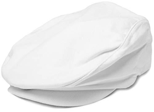 styleBREAKER Unisex Cabrio Cap einfarbig, Schiebermütze, verstellbar, Newsboy Cap, Schiebermütze, Schirmmütze 04023004, Farbe:Weiß
