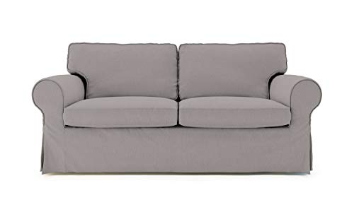 TLY Cotton Material Ektorp Sofa Bed Cover for IKEA Two Seater Sleeper Slipcover